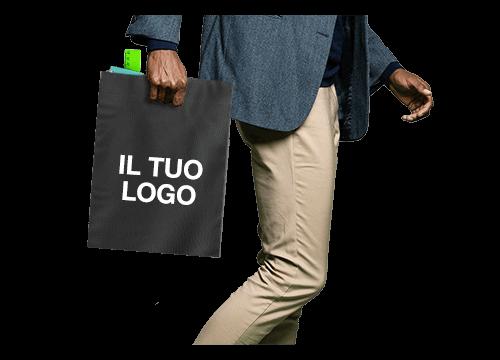 Compact - Borse di tela con logo