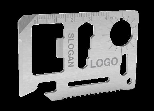 Kit - Strumento multiuso personalizzato a forma di carta di credito