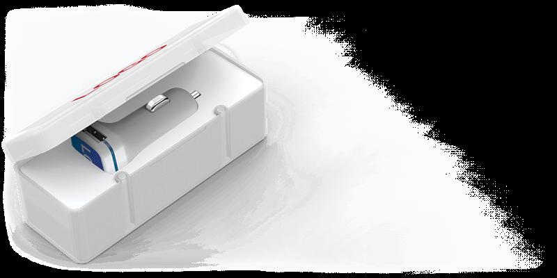 Vista - Caricabatteria per Auto USB Personalizzazione