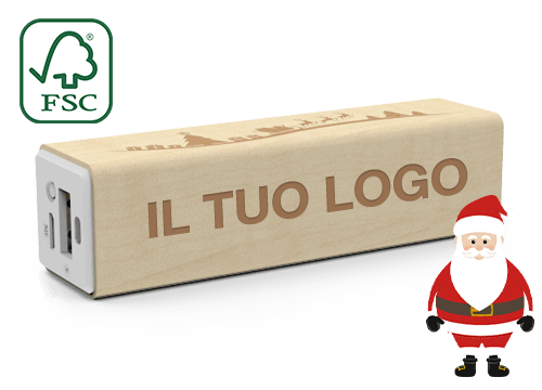Maple Christmas - Power Bank Carta Di Credito