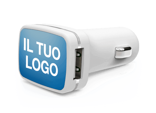 Vista - Caricabatteria per Auto USB Personalizzati