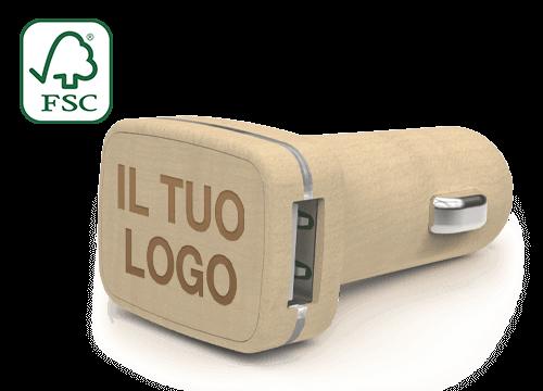 Woodie - Caricabatteria per Auto USB Personalizzati Roma