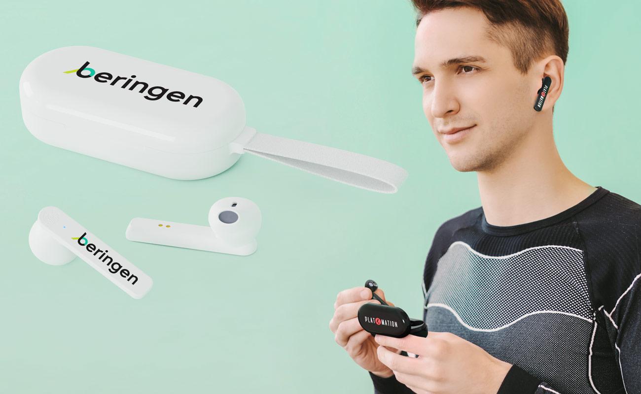 Duet - Auricolari con logo True Wireless
