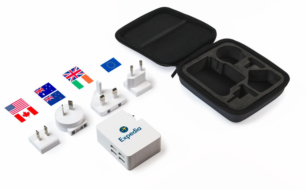 Latitude - Caricatore Viaggio USB Personalizzati