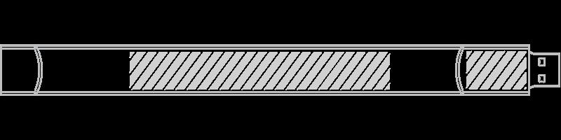 Braccialetto USB Serigrafia
